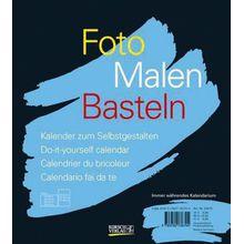 Buch - Foto, Malen, Basteln, schwarzer Karton (24 x 21,5 cm)