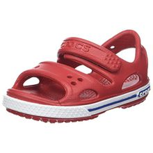 crocs Crocband II Sandal Kids, Unisex - Kinder Sandalen, Rot (Pepper/Blue Jean), 27/28 EU