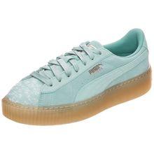 PUMA Suede Platform Pebble Sneakers Low hellgrün Damen