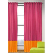 Vorhang Uni, magenta-orange, 245x135, 1 (Schal) orange/pink