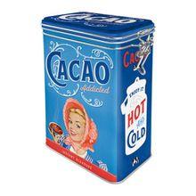 Nostalgic-Art 31114 Cacao Addicted | Retro Aromadose| Blech-Dose | Kaffee-Dose | Aromadeckel | Metall