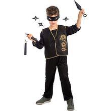 Ninja-Set (Maske, Weste, Waffen), 5-tlg. Jungen Kinder