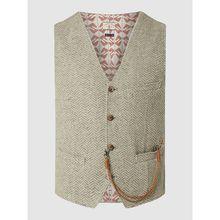 Slim Fit Weste mit Fischgrat-Dessin - 'Savile Row' Modell 'Merrick'