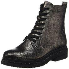 Tamaris Damen 25131 Combat Boots, Silber (Platinum Stru), 42 EU