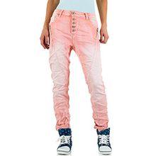 Mozzaar Plus Size Boyfriend Jeans Für Damen , Rosa In Gr. 38 bei Ital-Design