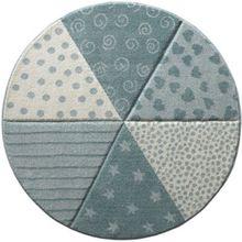 sigikid SK-21962-030 Kinderteppich Round Canon, blau/pastell pastellblau