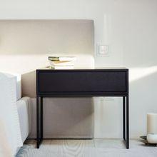 Dina Nachttisch mit Schublade wenge-schwarz