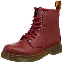 Dr. Martens Delaney, Unisex-Kinder Stiefel, Rot (Dark Red Pebble Lamper), 31 EU (12 UK)