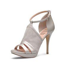 EVITA Damen Sandalette VALERIA Klassische Sandaletten hellgrau Damen