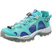 Salomon Damen Techamphibian 3 W Trail Runnins Sneakers, Verschiedene Farben (Ceramic/Nautical Blue/Aruba Blue), 42 2/3 EU