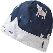 Topfmütze  blau Mädchen Baby