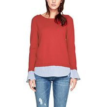 s.Oliver RED LABEL Damen Pullover im 2-in-1-Look tango red 38