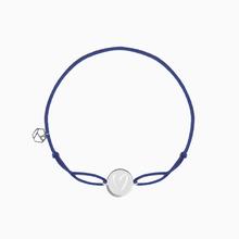 Stoffarmband HEART blau