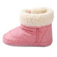 Covermason Baby Mädchen Jungen weiche Sohle Kleinkind Schuhe Krippe Schuhe Baumwolle Schneestiefel (11(0 ~ 6 Monate), Rosa)