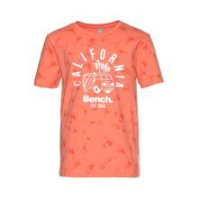 BENCH T-Shirt koralle / dunkelorange / weiß