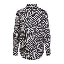 Bluse  mit Allover Zebradruck