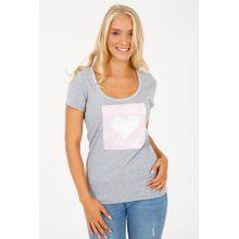Krüger- Trachten Shirt Heartbeat (hellgrau), grau
