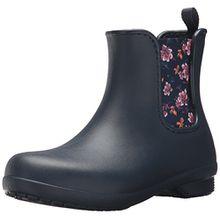 crocs Freesail Chelsea Boot Women, Damen Gummistiefel, Blau (Navy/Floral), 42/43 EU