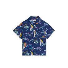 Seersucker Shirt - Blue