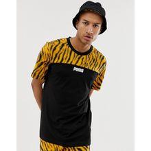 Puma - Wild Pack - T-Shirt mit Farbblockdesign - Schwarz