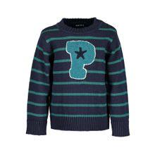 BLUE SEVEN Pullover navy / türkis / jade
