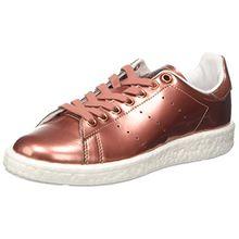 adidas Damen Stan Smith Boost Sneaker Dekollete, Braun (Copper Met./Copper Met./FTWR White), 37 1/3 EU