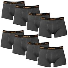 HEAD Men Boxershort 841001001 Basic Boxer 8er Pack,mt (L = 8 Stück, Dark Shadow)
