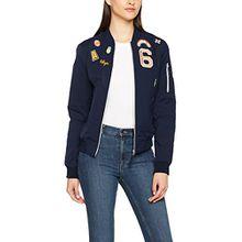 khujo Damen Jacke Nauru WB Washed Nylon Jacket, Blau (Blue 400), 40 (Herstellergröße:M)