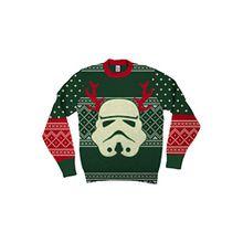 Star Wars Stormtrooper With Ren Antlers Grün hässlich Weihnachten Sweater (Erwachsene XX-Large)