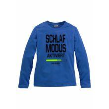ARIZONA Shirt 'Schlafmodus aktiviert' royalblau / limette / schwarz