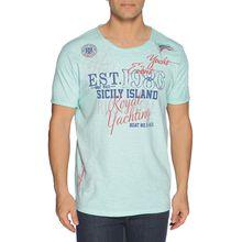 Rusty Neal T-Shirt in grün für Herren