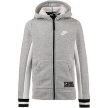 Nike Sportswear Sweatjacke graumeliert / schwarz / weiß