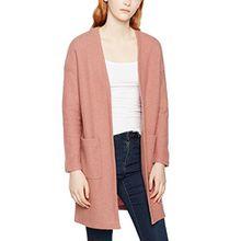 SELECTED FEMME Damen Strickjacke Sfdarla LS Knit Cardigan, Rosa (Burlwood), 40 (Herstellergröße: L)
