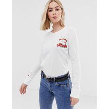 Converse x Hello Kitty - Weißes, langärmliges Shirt mit Print hinten - Weiß
