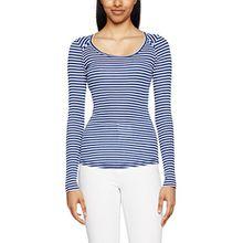 Hilfiger Denim Damen Langarmshirt Thdw Basic Stripe SN Knit L/S 12, Mehrfarbig (Dress Blues/Bright White 902), Large