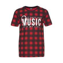 BUFFALO T-Shirt rot / schwarz