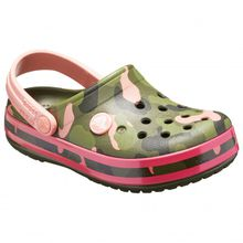 Crocs - Kid's Crocband Multigraphic Clog - Sandalen Gr C10;C11;C12;C13;C7;C8;C9;J1;J2 oliv/grün;grau/türkis;beige