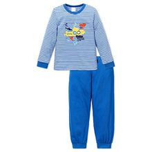 Schiesser Jungen Schlafanzug lang 151768, blau, 104