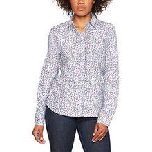 eterna Damen Bluse Comfort Fit Langarm Bunt Bedruckt mit Hemd-Kragen, Mehrfarbig (Bunt 18), 40