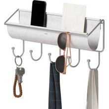"""umbra Schlüsselablage """"Wand-Organizer Hammock"""", hängend, B41 x T8 x H17 cm grau"""
