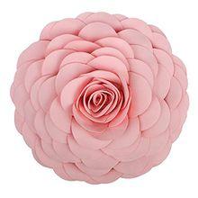 King Rose 3D BIG ROSE BLUME Kissen Dekoratives Überwurf Kissen Stereo Floral Kissen, Home Decor 33x 33cm rot mit Einsatz, Wolle, rose, 33 cm
