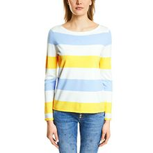 Street One Damen Pullover 300452, Mehrfarbig (Canary Yellow 31202), 36