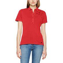 Napapijri Damen Poloshirt Enmore, Rot (Tulip R34), Medium