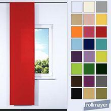 einfarbig Schiebevorhang für Flächenvorhangschiene / Schienensysteme 60 x 245 CM (Rot Mexikanisch 45, IKEA System), Flächenvorhang Schiebepanel Schiebegardine Vorhang Raumteiler