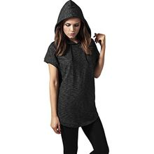Urban Classics Damen Pullover Ladies Melange Sleeveless Terry Hoody, Grau (Darkgrey 94), X-Small