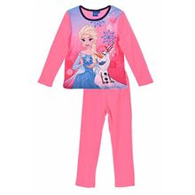 Disney Frozen Anna Elsa Kinder Winter Polar Fleece Pyjamas / Nachtwäsche (Rosa , 4 Jahre)