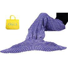 Mermaid Tail Deckenhaken Yier® Erwachsene Teens Wohnzimmer Sofa Super Soft Decken Schlafsäcke-Weiß lila