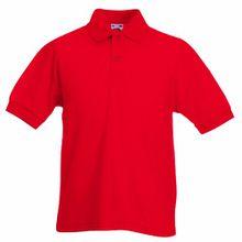 Fruit of the Loom Kinder Polo Shirt, kurzarm (9-11) (Rot) 9/11,Rot