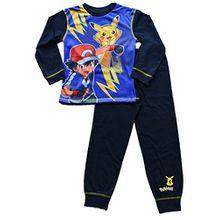 ThePyjamaFactory Jungen Schlafanzug Blau blau Gr. 8-9 Jahre, blau