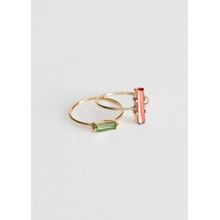 Two-Set Jewelled Rings - Red